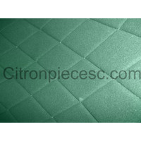 thumb-Original seat cover set for front L seat (2 round angles) in green cloth Charleston Citroën 2CV-5