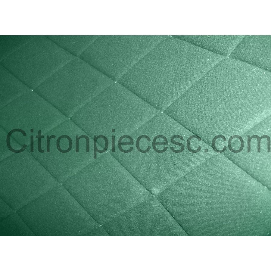 Hoes set voorstoel L (2 afgeronde hoeken) groen stof Charleston Citroën 2CV-5