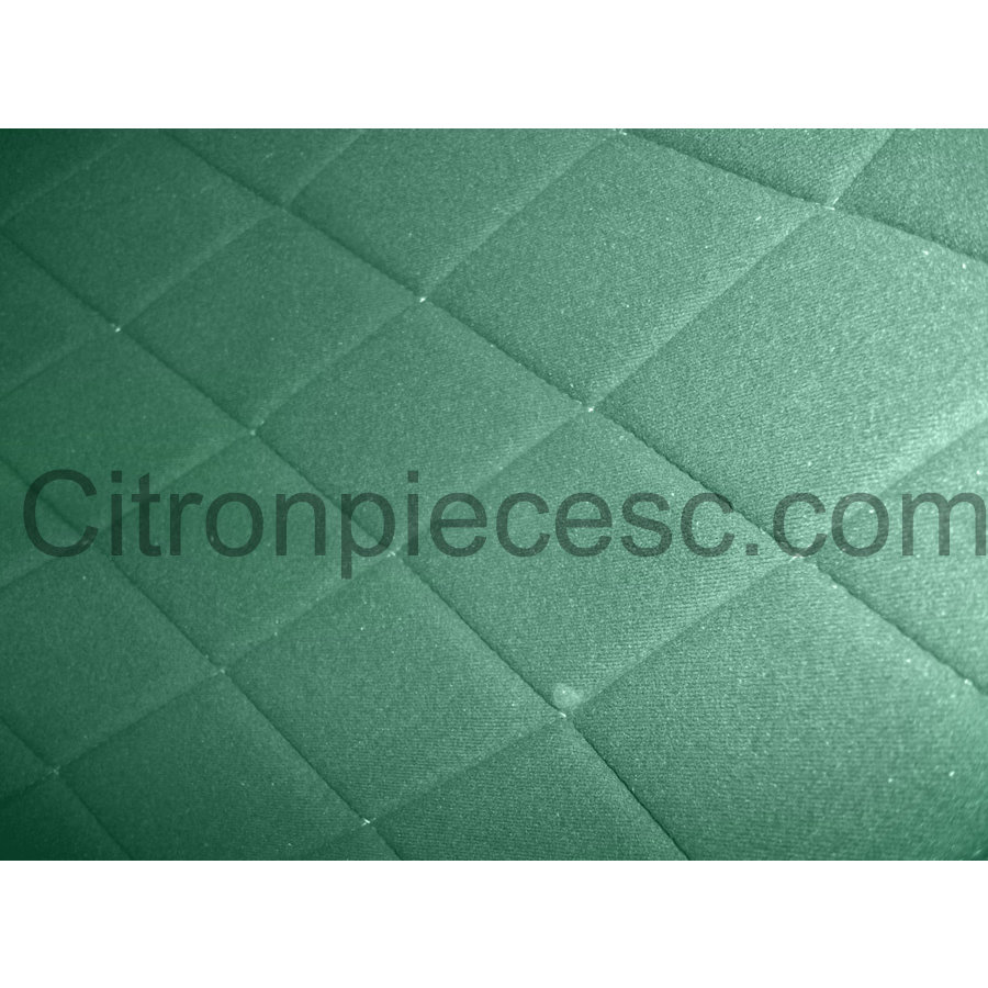 Original seat cover set for front L seat (2 round angles) in green cloth Charleston Citroën 2CV-5