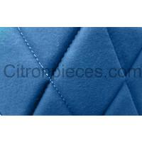 thumb-Jeu complet de housse d'origine: 2 sièges avants + 1 banquette AR étoffe bleu Charleston Citroën 2CV - Copy-2