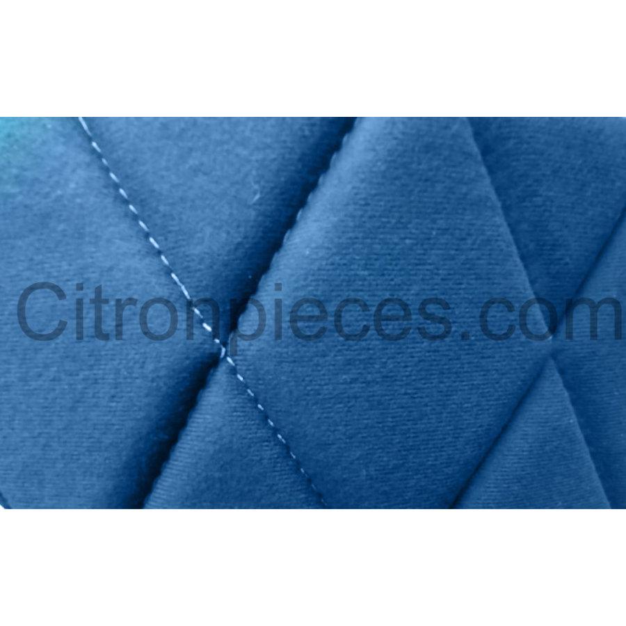 Set van 2 voorstoelhoezen (2 ronden kanten) en 1 achterbank blauw stof Citroën 2CV - Copy-2