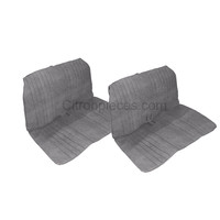 thumb-Seat cover set, front and rear, blue denim, open sides, 2CV.-1