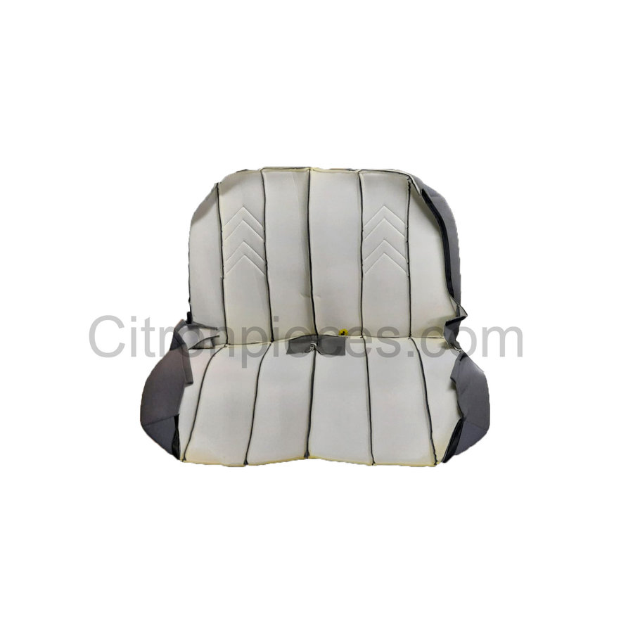 Original seat cover set for rear bench in gray cloth with old Citroën logo Citroën 2CV-2