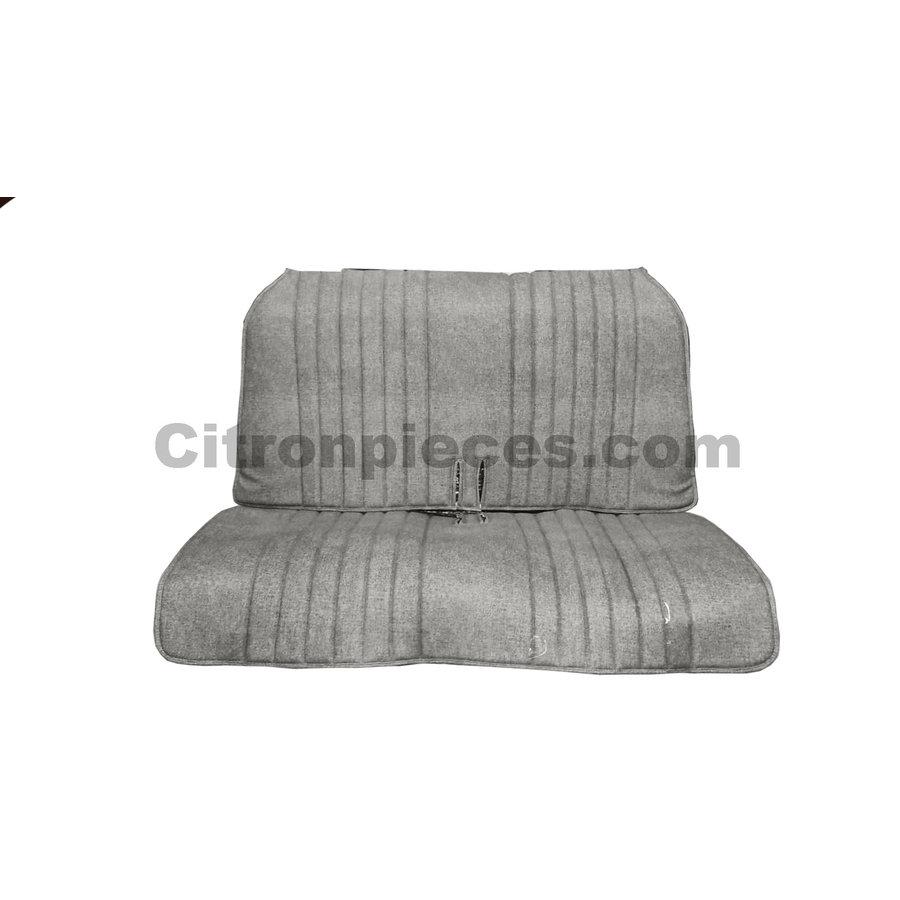 Original seat cover set for rear bench in blue denim leatherette Dyane Citroën 2CV-1