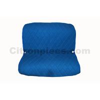 thumb-Original-Sitzbezug Hintersitzbank blauer Stoff Charleston Citroën 2CV-1
