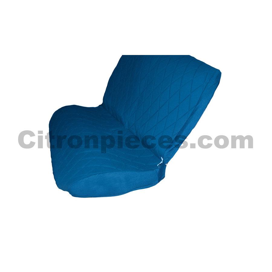 Housse d'origine pour banquette AR en étoffe bleu Charleston Citroën 2CV-2
