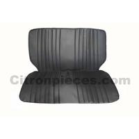 Original seat cover set for front bench in black leatherette Dyane Citroën 2CV