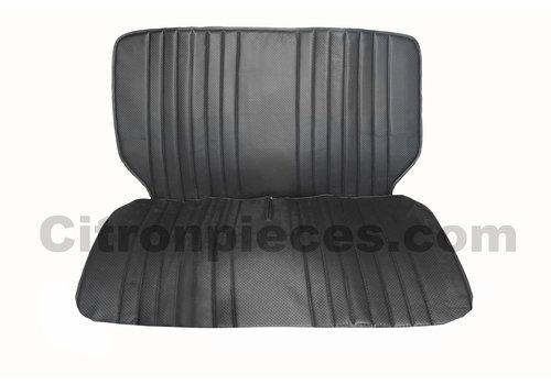 2CV Original seat cover set for front bench in black leatherette Dyane Citroën 2CV