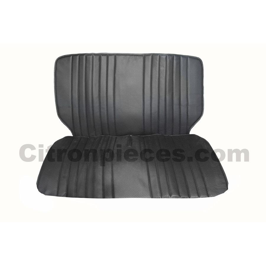 Original seat cover set for front bench in black leatherette Dyane Citroën 2CV-1