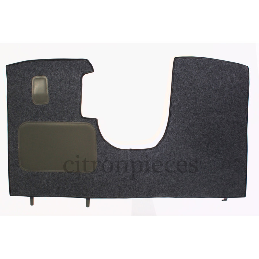 Front mat gray Dsuper / Dspecial (WITHOUT FOAM) for brake pedal Citroën ID / DS-1