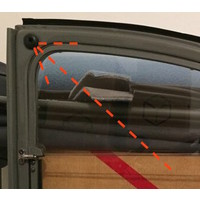 thumb-Caoutchouc pour sécuriser la barre du capot /2CV etc Caoutchouc fixation de vitre pour ancien modèle Citroën 2CV-6
