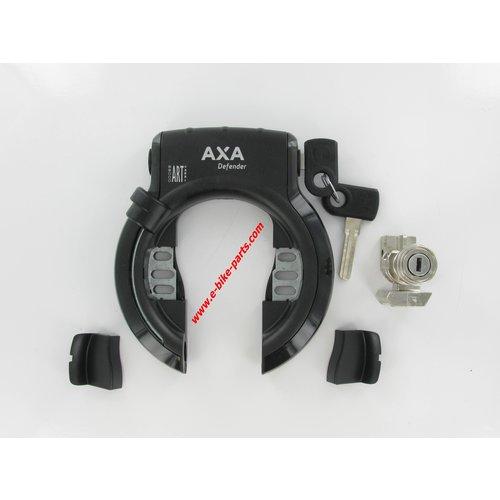Schloss + Batterieschloss Gazelle Hybrid F / HFP / Panasonic Axa Defender