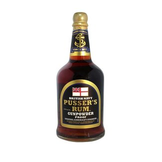 Pusser's Navy rum GUNPOWDER PROOF  54,5%