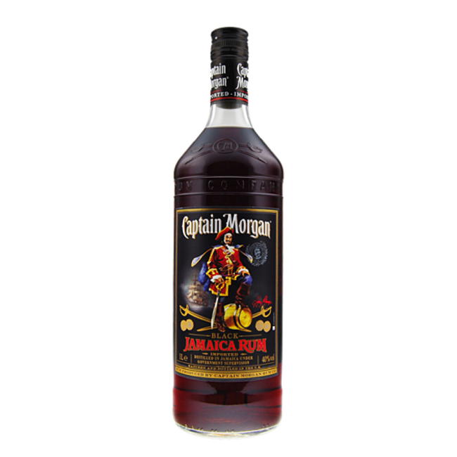 CAPTAIN MORGAN BLACK  LTR