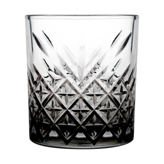 GLAS TUMBLER BLACK BOTTOM   CASE 4 GLASSES