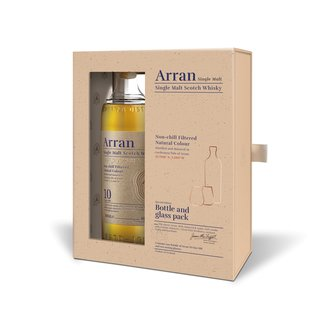 Arran  10Y GIFTPACK WITH GLASSES