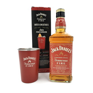 JACK DANIELS FIRE GIFTPACK WITH TIN CUP