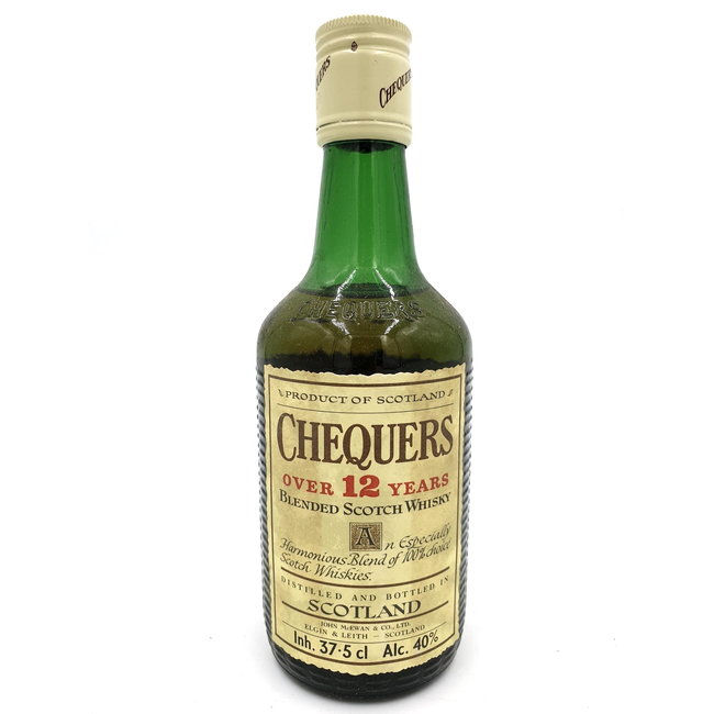 CHEQUERS OVER 12 YEARS OLD - half bottle