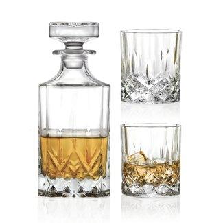 OPERA WHISKY SET  DECANTER +2 GLASSES