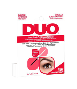 DUO DUO - 2 in 1 Brush On Lash Adhesive Wimperlijm - Clear/Dark
