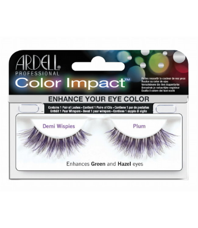 Ardell Ardell - Color Impact Lashes Demi Wispies - Plum