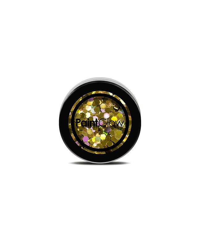 PaintGlow PaintGlow - Chunky Holographic UV Glitter 24 Karat