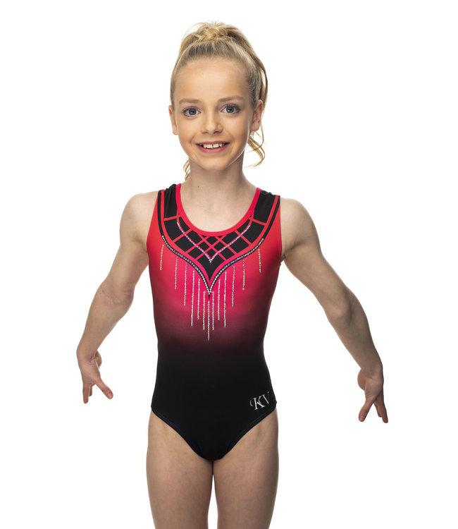"KV Gymnastics Wear Leotard ""Grace"" red"