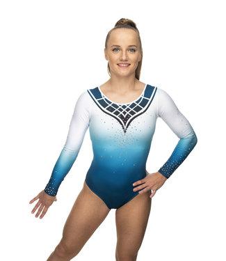 "KV Gymnastics Wear Leotard ""Grace"" Mint long sleeves"