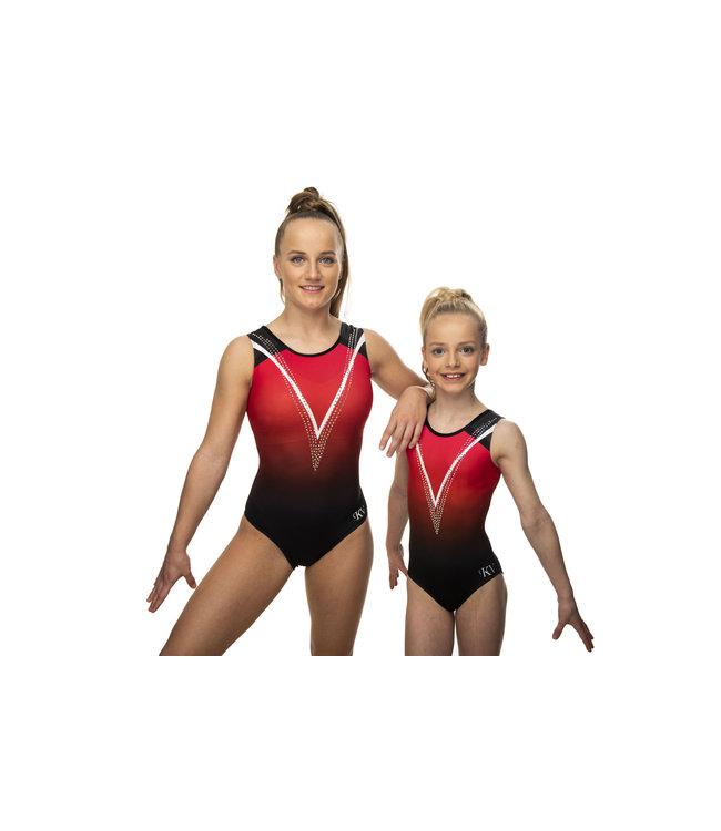 """KV Gymnastics Wear Leotard """"Ruby"""""""