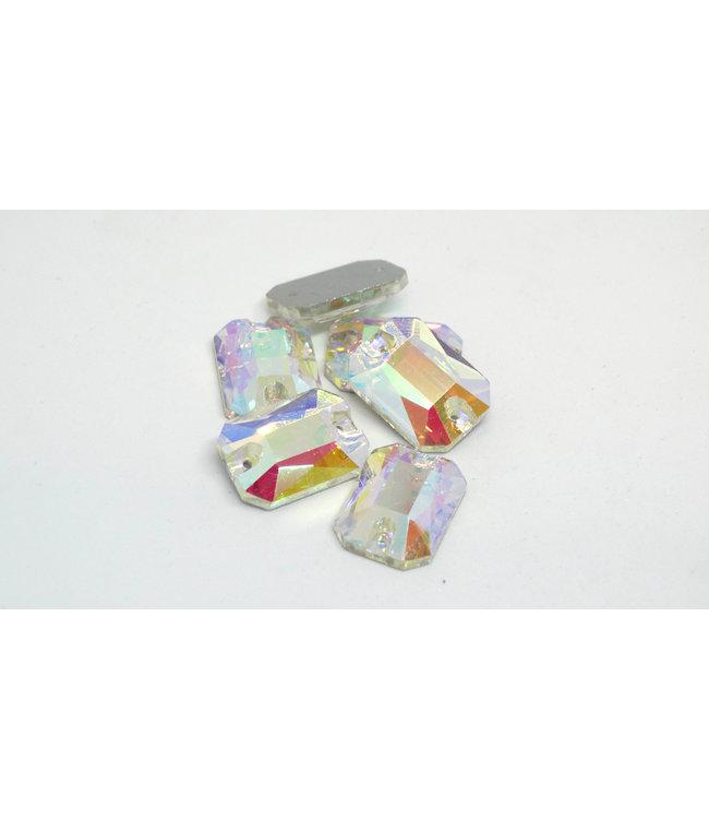 KV Premium Naaistenen Rectangle Octagon Crystal AB