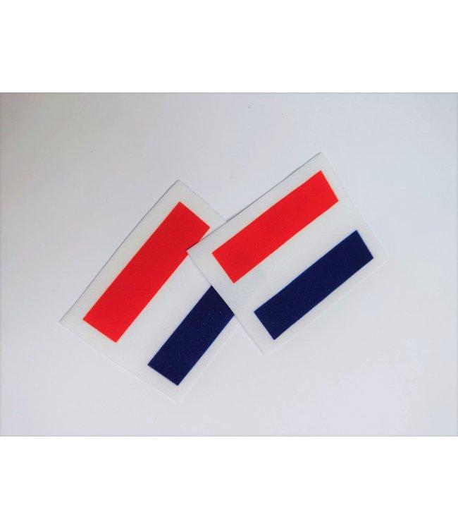 KV Gymnastics Wear Nederlandse vlag stretch (4,5cm x5,5cm)