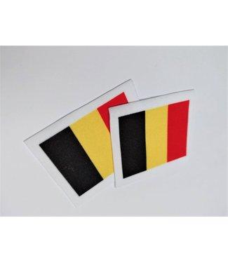 KV Gymnastics Wear Belgium flag stretch (4.5x5.5cm)