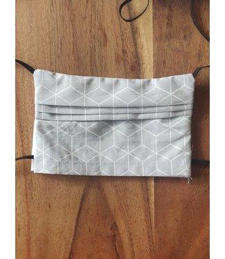 KV Mondmasker herbruikbaar - Grijs/Wit patroon