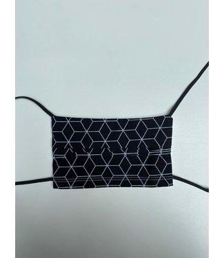KV Mondmasker herbruikbaar - Zwart/Wit patroon