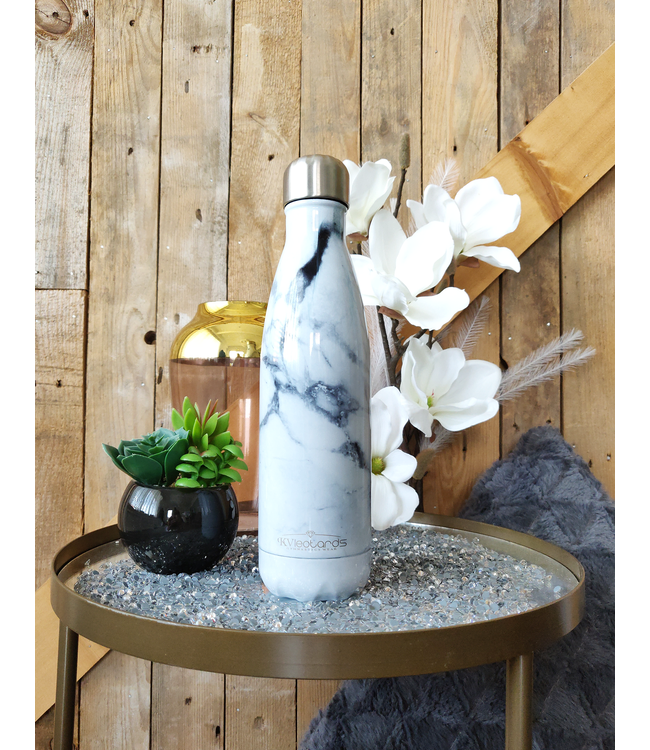 KV Waterbottle Marble White
