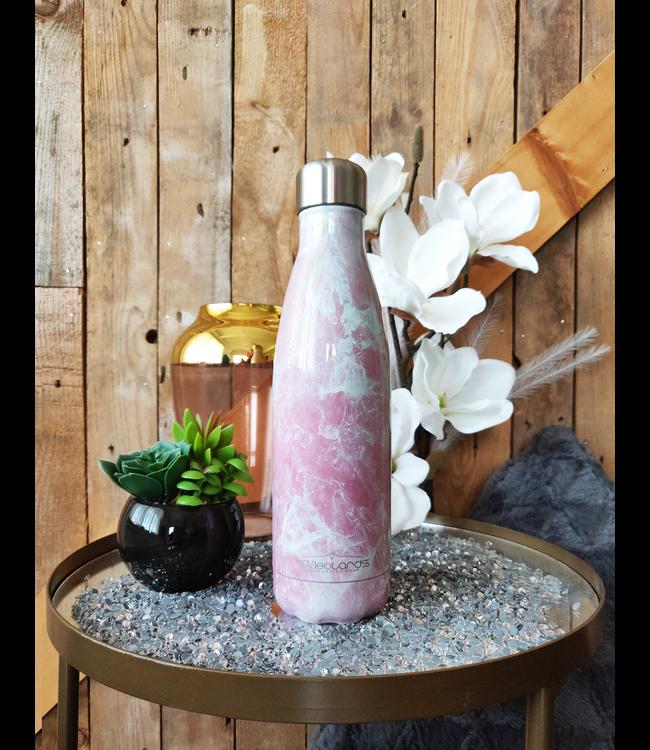 KV Drinkfles Marble Pink
