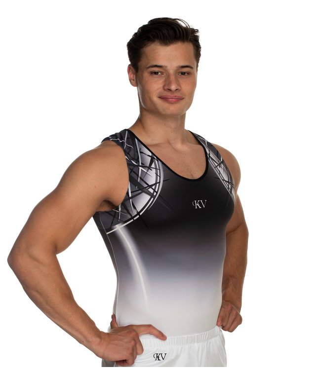 "KV Gymnastics Wear Leotard ""Jimmy"" gray"