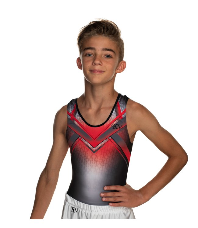 "KV Gymnastics Wear Leotard ""Ozzy"" red"