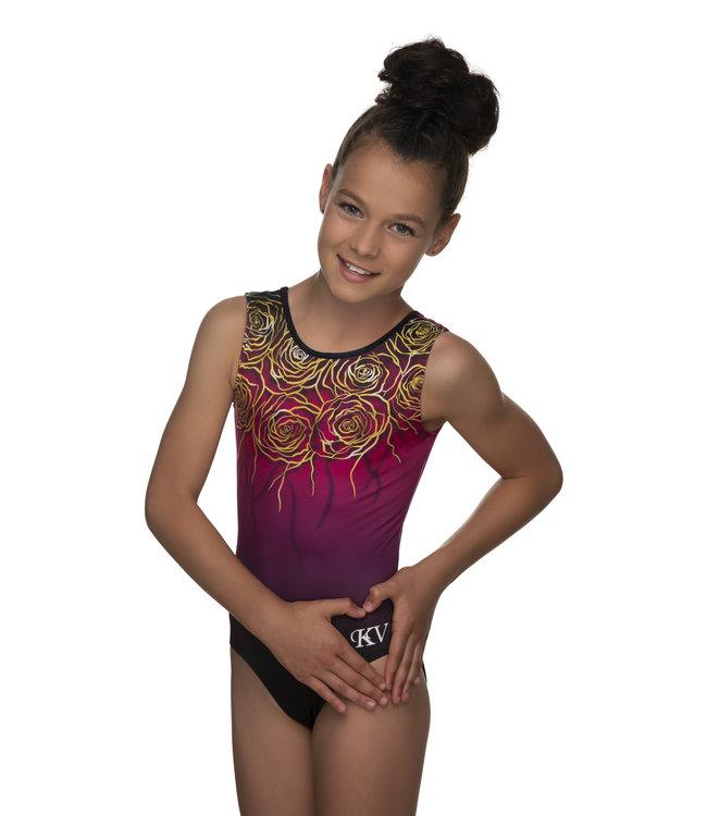 "KV Gymnastics Wear Leotard ""Rose"""