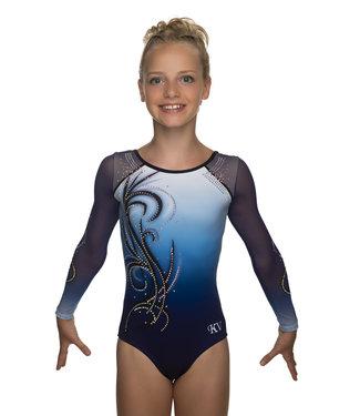 "KV Gymnastics Wear Turnpakje ""Yara"" blauw"