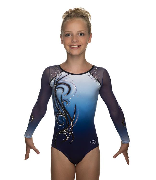 "KV Gymnastics Wear Leotard ""Yara"" blue"