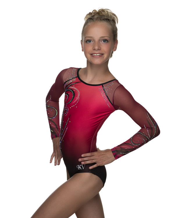 "KV Gymnastics Wear Turnpakje ""Yara"" bordeaux"