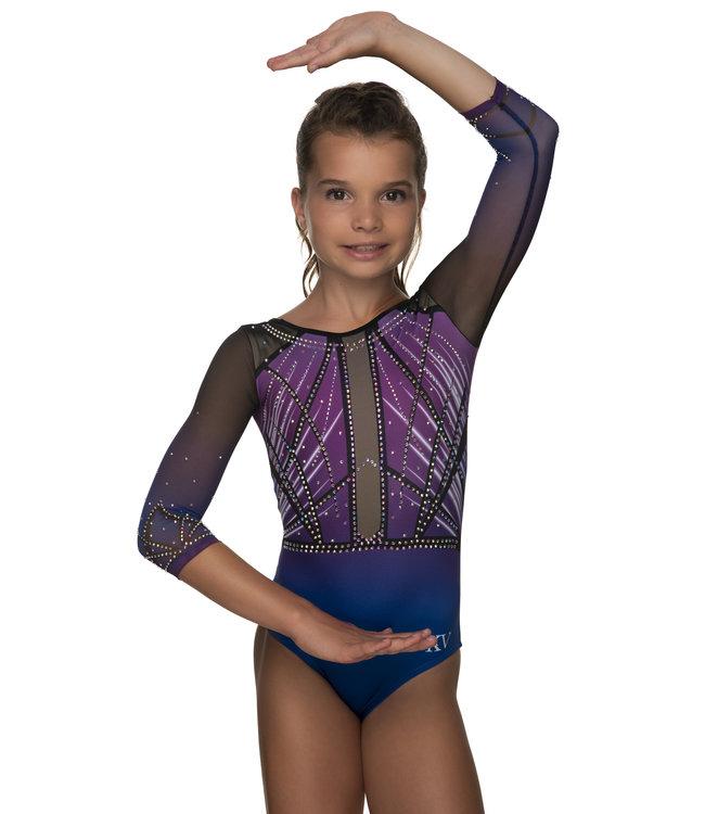 "KV Gymnastics Wear Leotard ""Faith"" purple"