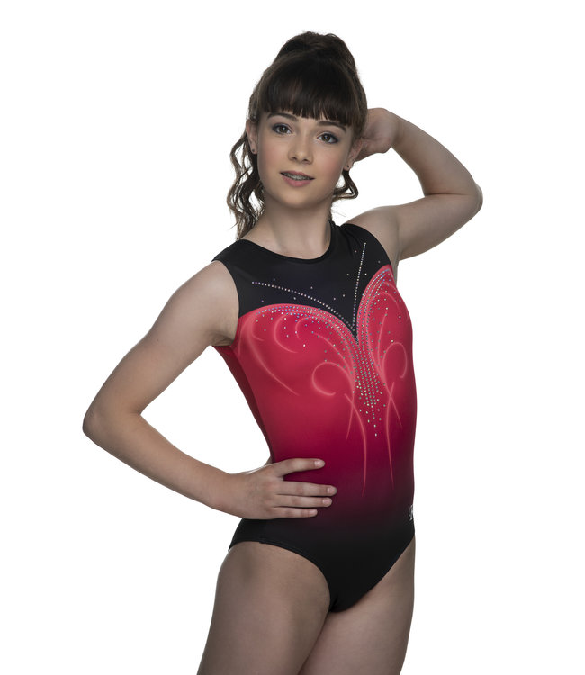 "KV Gymnastics Wear Leotard ""Nova"" coral"