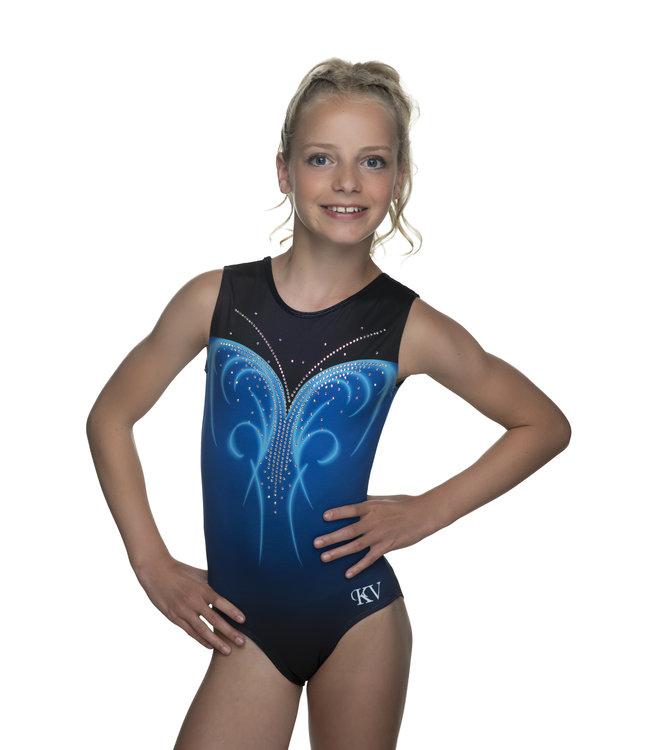 "KV Gymnastics Wear Leotard ""Nova"" blue"
