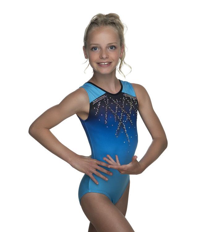 "KV Gymnastics Wear Leotards ""Roxy Sleeveless"" blue"