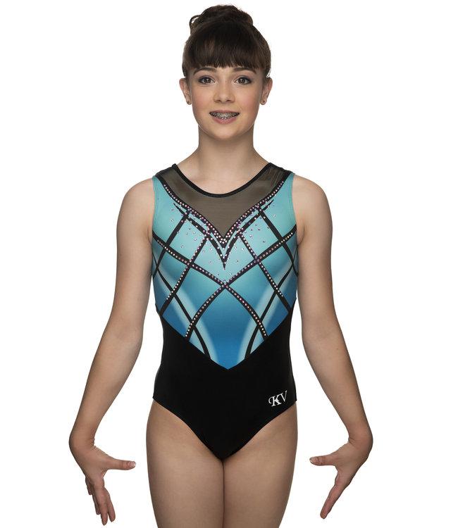 "KV Gymnastics Wear Leotard ""Rebel"" mint"