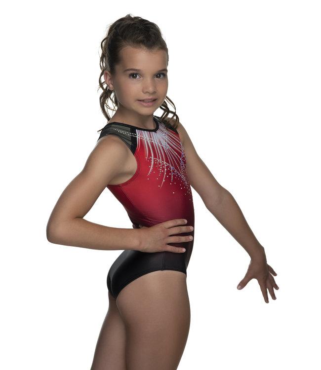 """KV Gymnastics Wear Turnpakje """"Lux"""" rood"""