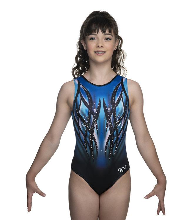 "KV Gymnastics Wear Leotard ""Victory"" blue"