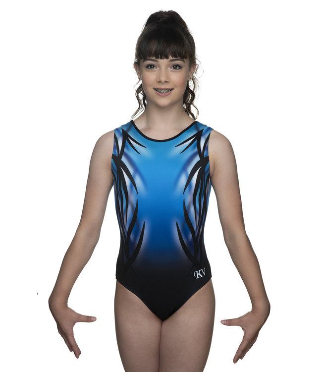 "KV Gymnastics Wear Leotard ""Mystery"" blue"